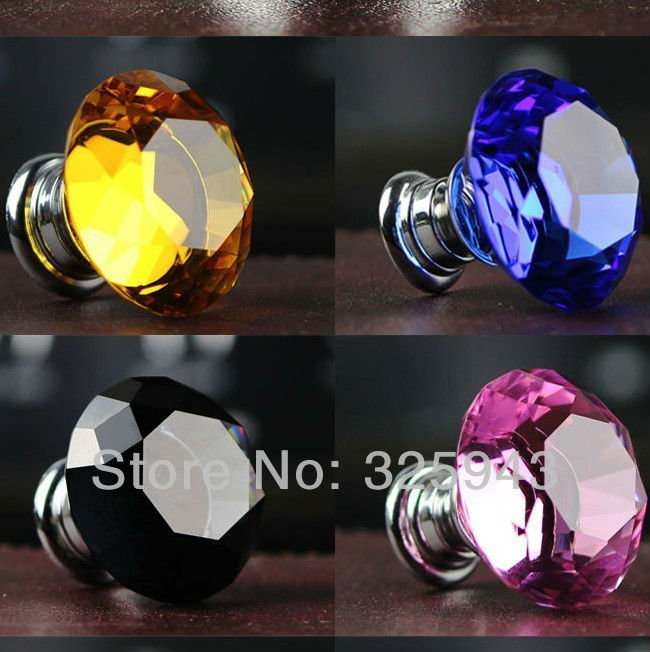 NEW 20MM Multi Color Crystal Knobs And Handles Kitchen Cabinets Dresser  Drawer Pulls Kids Furniture Bedroom In Cabinet Pulls From Home Improvement  On ...