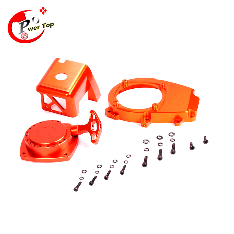 FVITEU Engine Cover Set with CNC Material pull starter cylinder cover side cover screws for 1