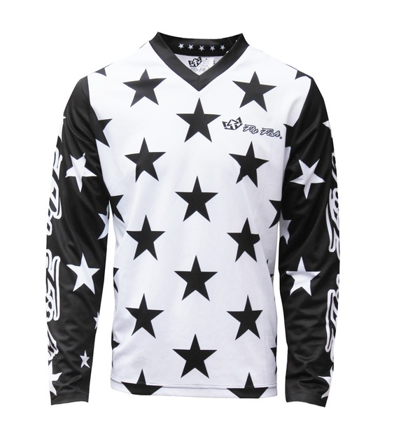 Fly Fish Racing GP Mens Jersey White Black Star MX Off Road Downhill MTB  Mountain 17c684032