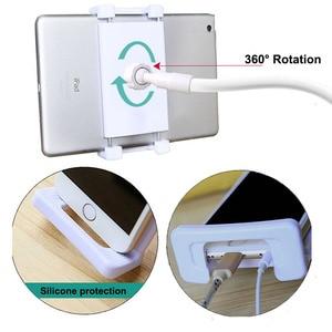 Image 4 - YPAY yatak Tablet telefon standı tutucu 130cm ayarlanabilir dağı Ipad Tablet 4 ila 12.9 inç masaüstü Tablet PC standı metal destek