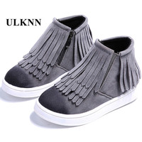 Fringe Girls Boots Fur Thick Warm Children S Shoes 2017 New Shoes For Boys Top Quality