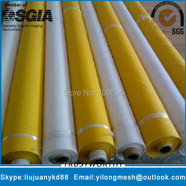 72T/180Mesh-55um-127cm White 25meters Polyester Silk Screen Mesh Silk For Screen Printing Free Shipping with Fast Delivery!