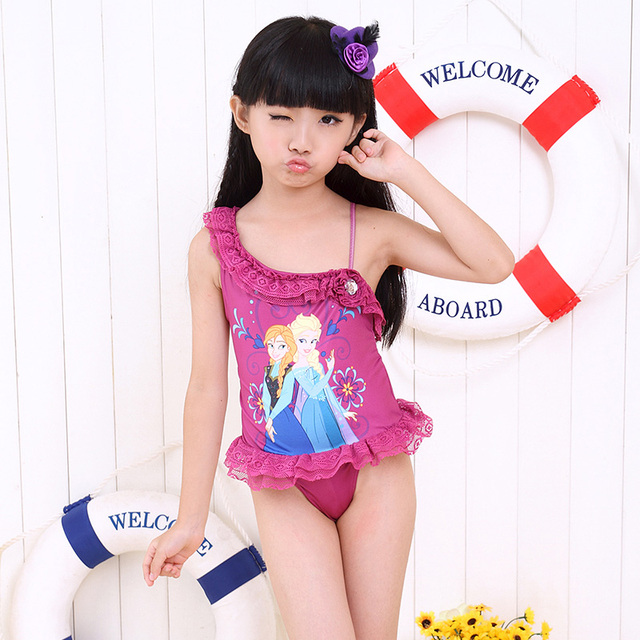 4d5a97db5a Retail Girls Baby Swimwear Toddler Swimsuit Frozen Queen Elsa Anna Peppa Pig  One-piece 2-6 Years Tankini Bathing Bather New