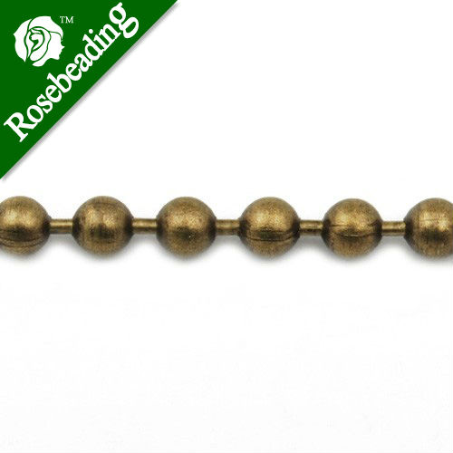 3.2MM Brass vintage Bronze Ball chain,Handmade,sold 50 meters per Roll free shipping imitation pearls chain flatback resin material half pearls chain many styles to choose one roll per lot