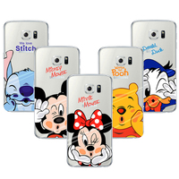 Coque Capa Para Cartoon Mickey Minnie Soft TPU Cleart Phone Cases For Samsung Grand Prime S3