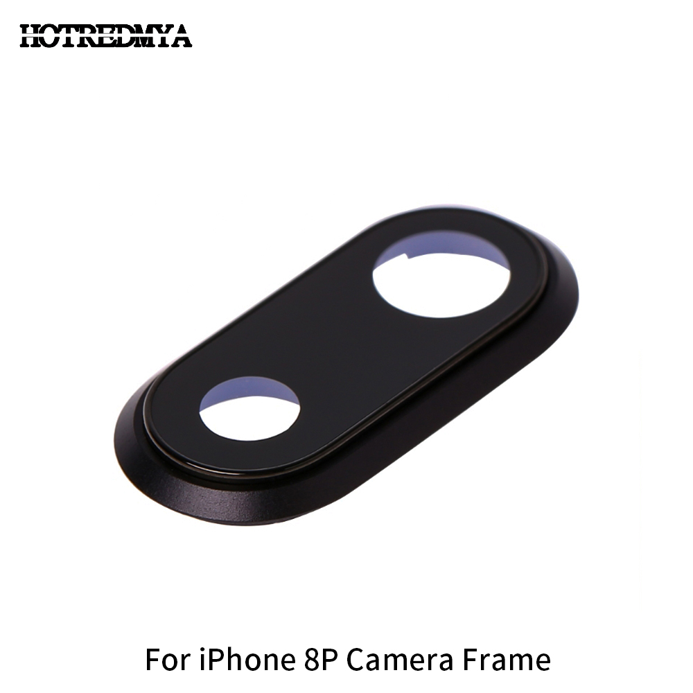 High Quality Back Rear Camera Glass Lens For iPhone 8G 8Plus Sapphire Crystal Back Protector Glass Lens Frame Black White Gold in Mobile Phone Lens from Cellphones Telecommunications