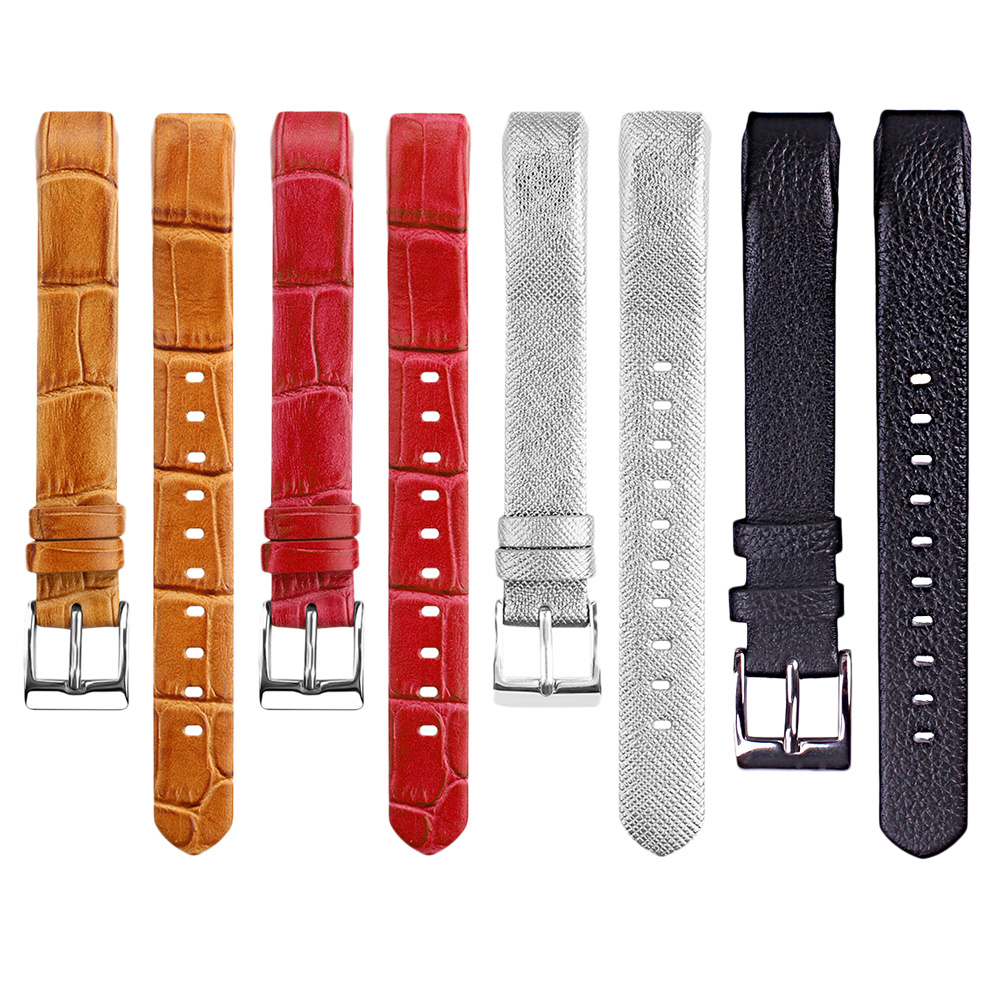 Watch Band Premium Genuine Leather straps Replacement Wrist Band Strap Bracelet for Fitbit Alta watch accessories men High Qual