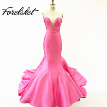 Elegant Simple Mermaid Off the Shoulder Evening Dresses Long Tail Formal Woman Evening Party Gowns abendkleider longo