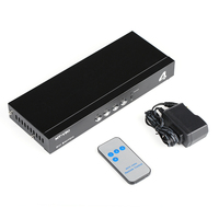 MT VIKI 4 Port DVI Switch Box 4 Input 1 Output IR Remote Control DVI PC Selector Support 2048*1536 MT DV401