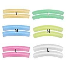 1 пакет(6 пар) Цветные Плоские и завитые накладные ресницы, многоразовые силиконовые накладки, подтягивающие ресницы, реснички, макияж