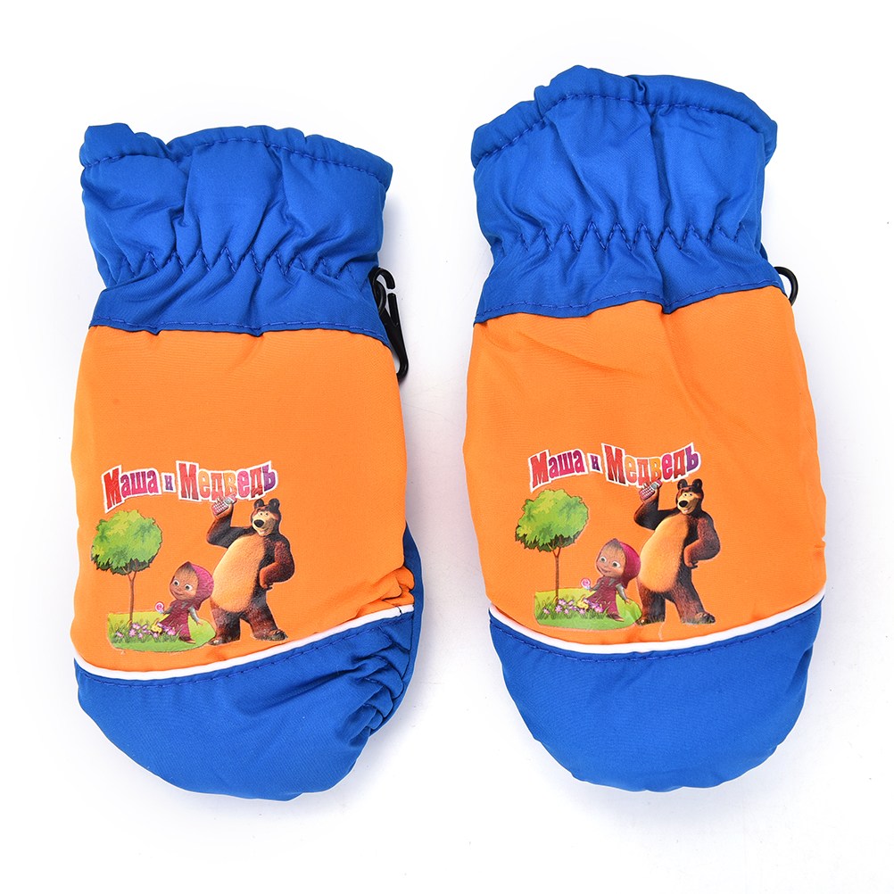 High Quality New 1 Pair Windproof Waterproof Children Boy Girl Winter Warm Mittens Breathable Kids Ski Snowboard Gloves Hot Sale