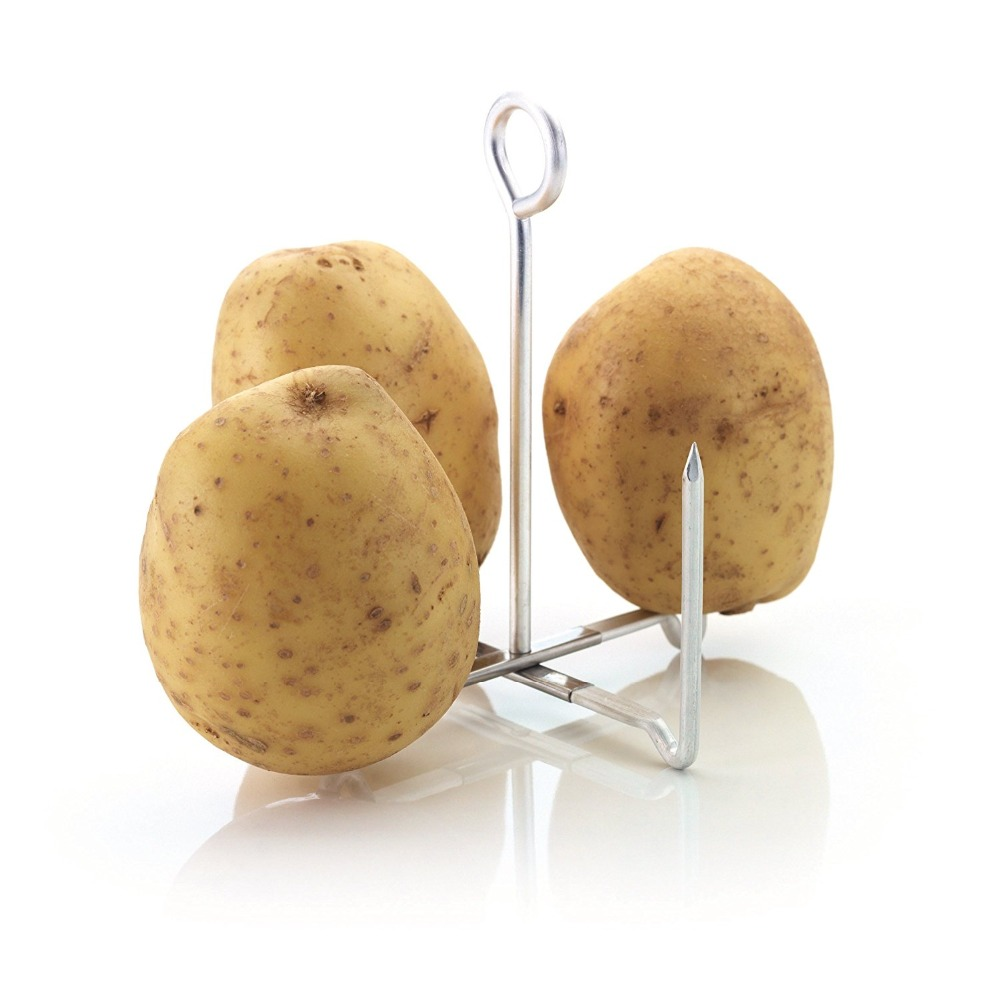 4 Pronged Potato Baking Stand Corn Stand Holder Food Baked Rack Bakes Foods And Vegetables Evenly Baking Tools