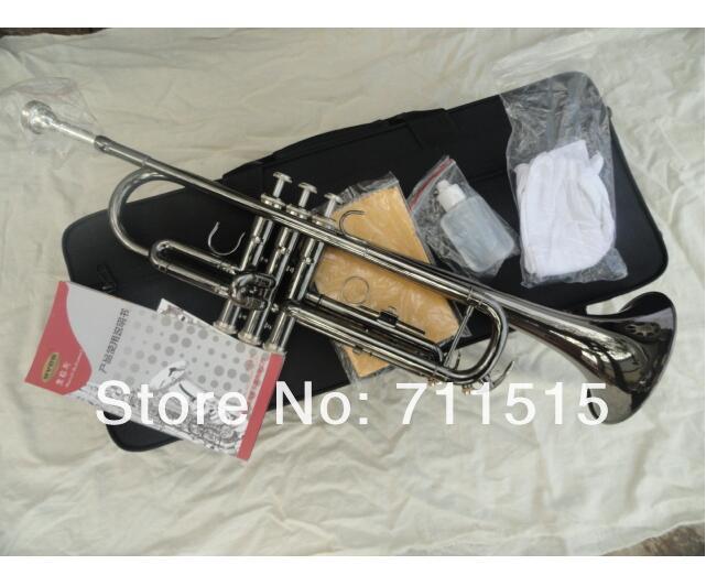 Big Musical Instruments Black Nickel Small Bb Trumpet Brass Musical Instruments Professional Trompeta