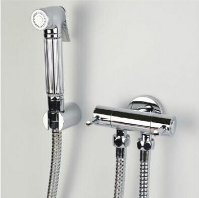 Bathroom Bidet faucet toilet bidet shower set Portable bidet spray with ABS chrome shower holder & 1.5m hose hand held bidet tap chrome finish brass shattaf toilet bidet spray hand held portable bidet shower washing machine taps