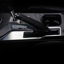 Tomefon ABS Матовый Ручные тормоза Парковочные тормоза крышка отделка только для левой руки водитель автомобиля Стайлинг для Toyota RAV4 2016