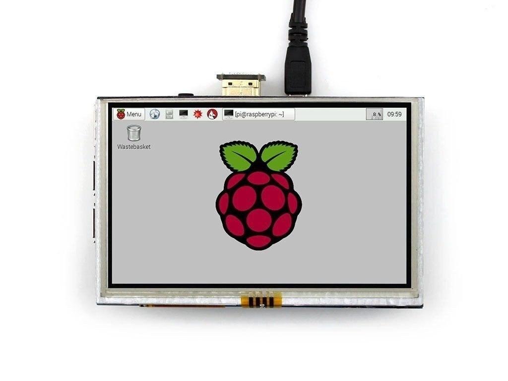 Module d'affichage LCD Raspberry Pi 5 pouces 800*480 TFT résistif Interface d'écran tactile pour Raspberry Pi 3