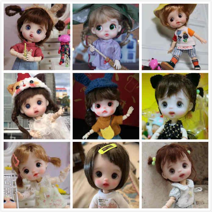 OB11 ręcznie robione lalki dostosowywania lalki mała lalka 2019 614 w Lalki od Zabawki i hobby na  Grupa 1