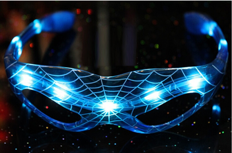 Ailin flashing glasses Luminous spiderman glasses cool glow dark colorful glow toys children and adult party dress up
