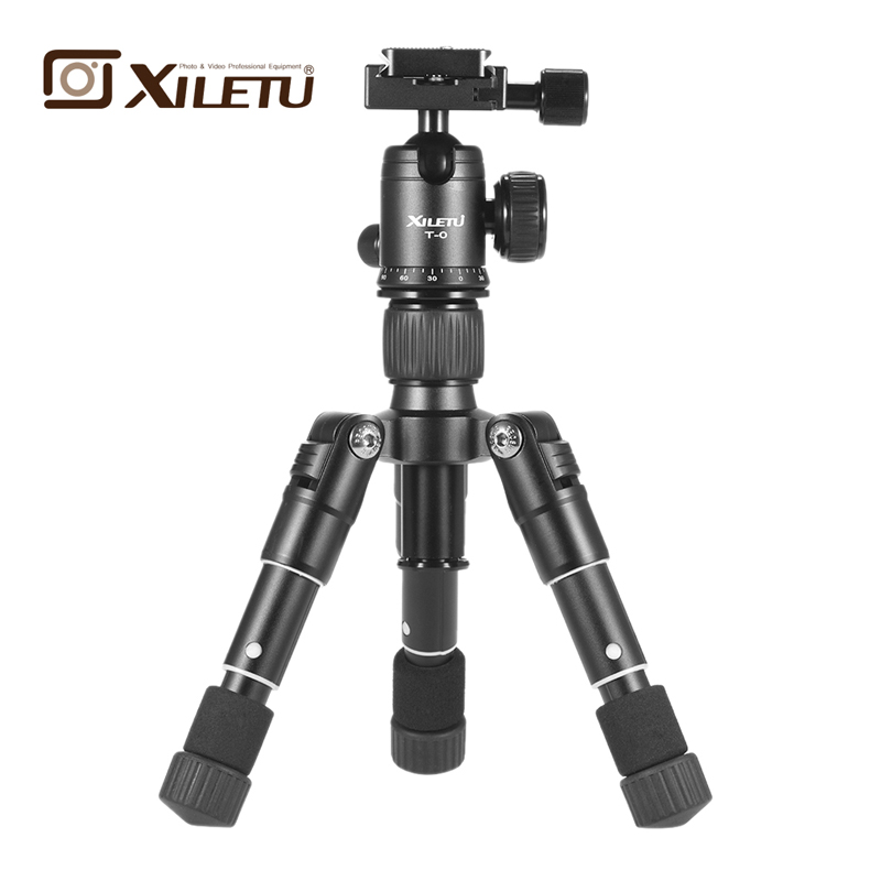 Free shipping XILETU FM5 MINI Aluminum Tripod Stable Desktop Tripod&Ball Head For Digital camera Mirrorless camera Smart phone-in Live Tripods from Consumer Electronics    1