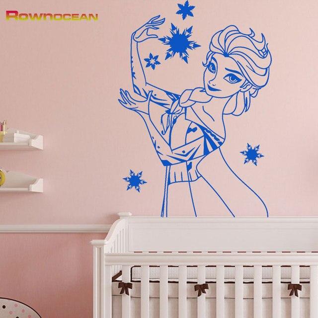 snow queen elsa huge wall stickers for girls rooms anime vinyl