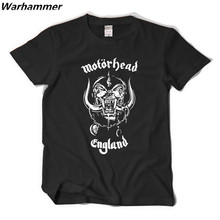 Motörhead england t-shirt heavy metal musik t feiner baumwolle gedruckt muster oansatz t-shirt soft & atmungs clothing hip hop t