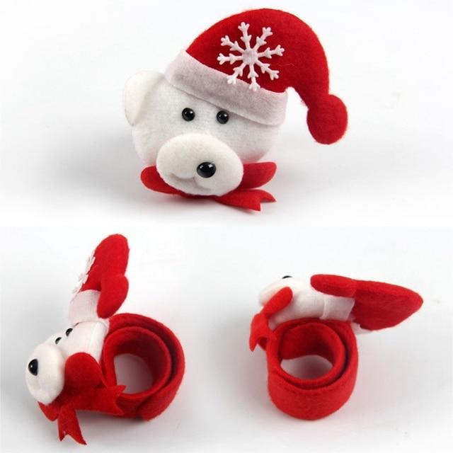 Christmas Patting Circle Bracelet Watch Xmas Children Gift Santa Claus Snowman Deer New Year Party Toy Wrist Decoration 1
