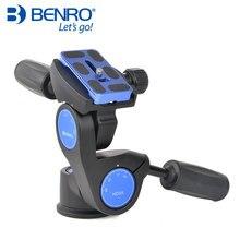 Benro HD סדרת 3 דרך פאן חצובה ראש HD3A מקצועי מגנזיום סגסוגת Panhead משקל