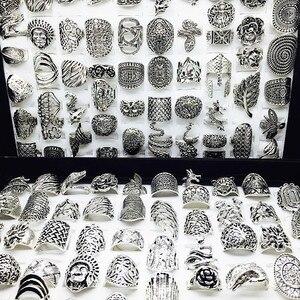 Image 3 - الجملة مجموعة 50 قطعة أنماط مزيج المرأة ريترو مجوهرات خواتم brand new