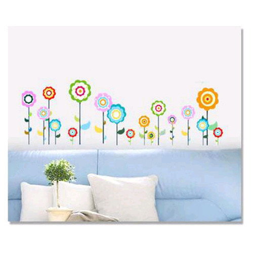 Flower Butterfly Nature Lovely Window Handdrawing Decal Vinyl Wall Sticker PVC Decor Decoration DIY Home Living Room Classroom