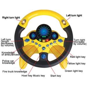 Image 4 - Oyuncak araba tekerleği çocuklar bebek interaktif oyuncaklar çocuklar direksiyon hafif ses ile simülasyon sürüş araba oyuncak eğitim oyuncak hediye