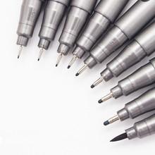 1-Piece Pigment Liner Pigma Micron Ink Marker Pen 0 05 0 1 0 2 0 3 0 4 0 5 0 6 0 8 Different Tip Black Fineliner Sketching Pens cheap Gimue Single 00284 Art Marker Loose