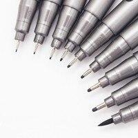 1-stück Pigment Liner Pigma Micron Tinte Marker Stift 0,05 0,1 0,2 0,3 0,4 0,5 0,6 0,8 Verschiedene Spitze schwarz Fineliner Skizzieren Stifte