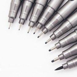 1-Piece Pigment Liner Pigma Micron Ink Marker Pen 0.05 0.1 0.2 0.3 0.4 0.5 0.6 0.8 Different Tip Black Fineliner Sketching Pens