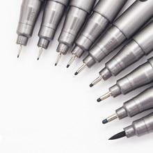 1 の顔料ライナー Pigma マイクロンペンインクマーカーペン 0.05 0.1 0.2 0.3 0.4 0.5 0.6 0.8 種類のヒント黒ファインライナーペンスケッチペン