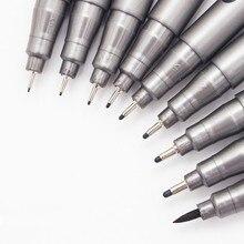 1 חתיכה פיגמנט אוניית Pigma מיקרון דיו מרקר עט 0.05 0.1 0.2 0.3 0.4 0.5 0.6 0.8 קצה שונה שחור Fineliner שרטוט עטים