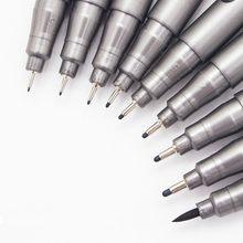 Caneta marcador de tinta de pigmento, pigmento forro para pigmento 0.05 0.1 0.2 0.3 0.4 0.5 ponta diferente, 1 peça canetas de esboço fineliner preto