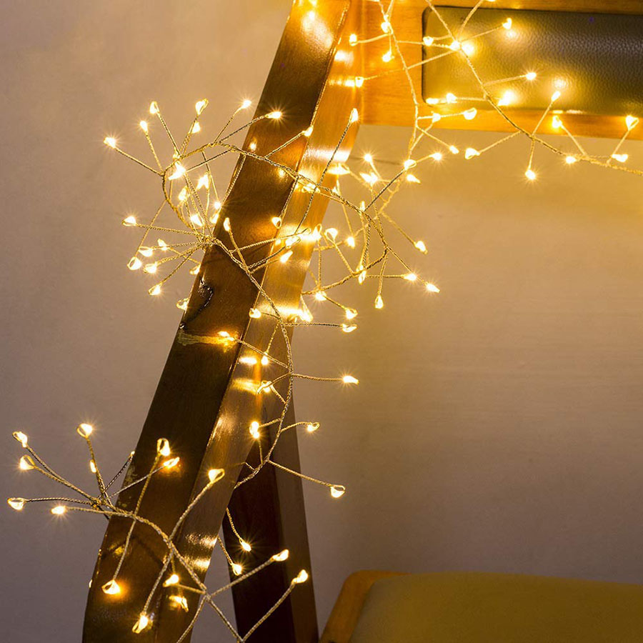 2M 5M Copper Wire LED String Lights Firecracker Fairy Garland Light For Christmas Window Wedding Party Battery Operated