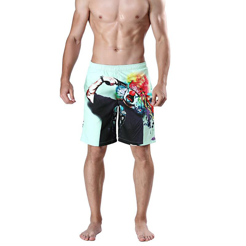 Men's Loose Beach Pants Man   Board     Shorts   Sports Fitness   Short   Trousers Clown 3D Printed Swim Trunks Quick Dry Male Swimsuit