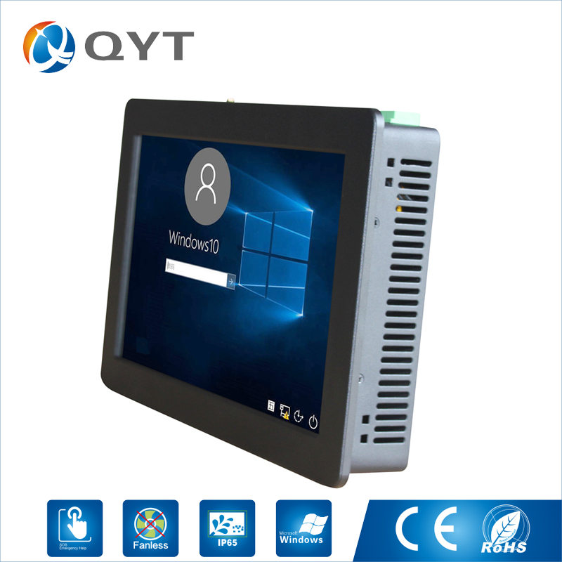 11.6 Industrial touch PC intel j1900 2.0GHz support win7/8/10 2G DDR3 32G SSD embedded computers Resolution 1366x768