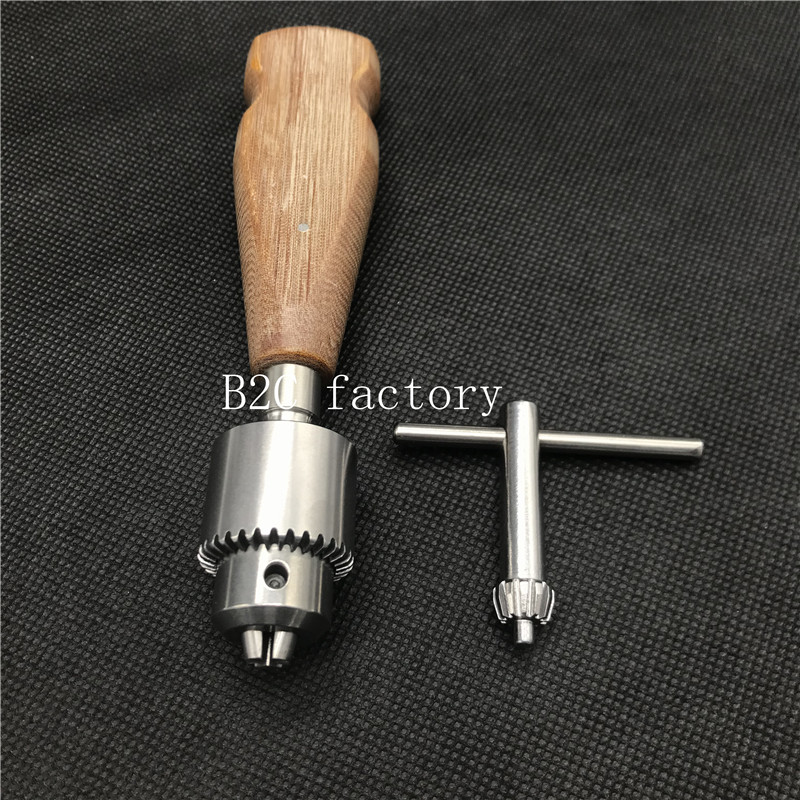 New High Quality Wooden Handle Orthopedic Bone Hand Drill Veterinary Orthopedic Instrument