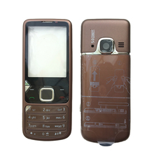 BINYEAE New Metal Full Housing For Nokia 6700 6700C Facing Frame + Middle + Back Cover + English / Russian Keyboard