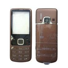 BINYEAE New โลหะสำหรับ Nokia 6700 6700C หันหน้าไปทางกรอบ + กลาง + ฝาครอบด้านหลัง + ภาษาอังกฤษ/รัสเซียคีย์บอร์ด