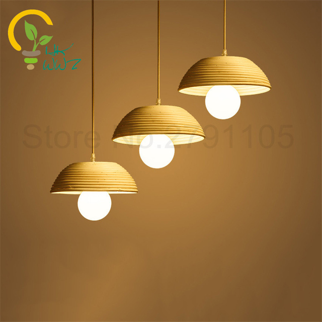 Hand Woven Rattan Art Pendant Lights Southeast Asian Style Restaurants Living Room Hanging Light