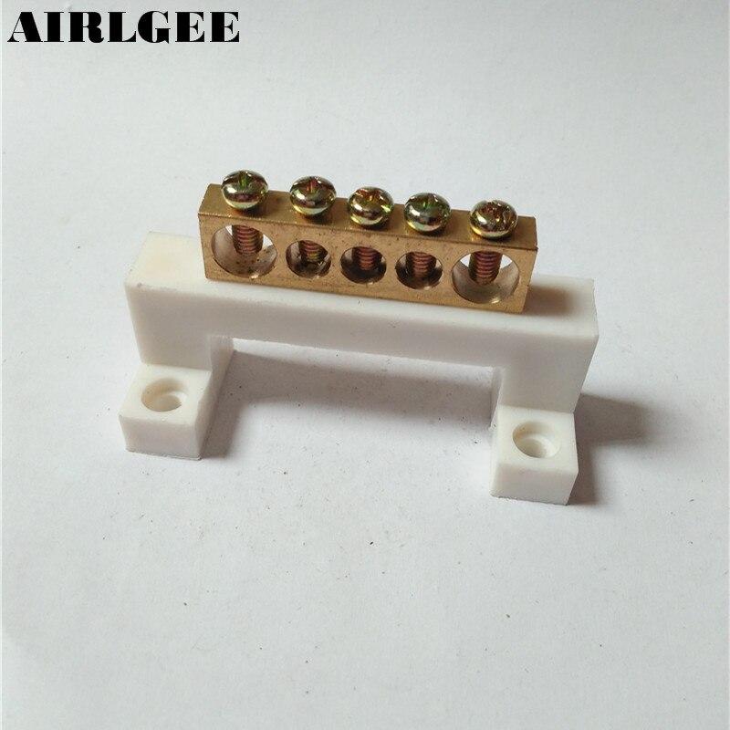 ٩(^‿^)۶5 unids cable eléctrico conector 5 posiciones tornillo ...