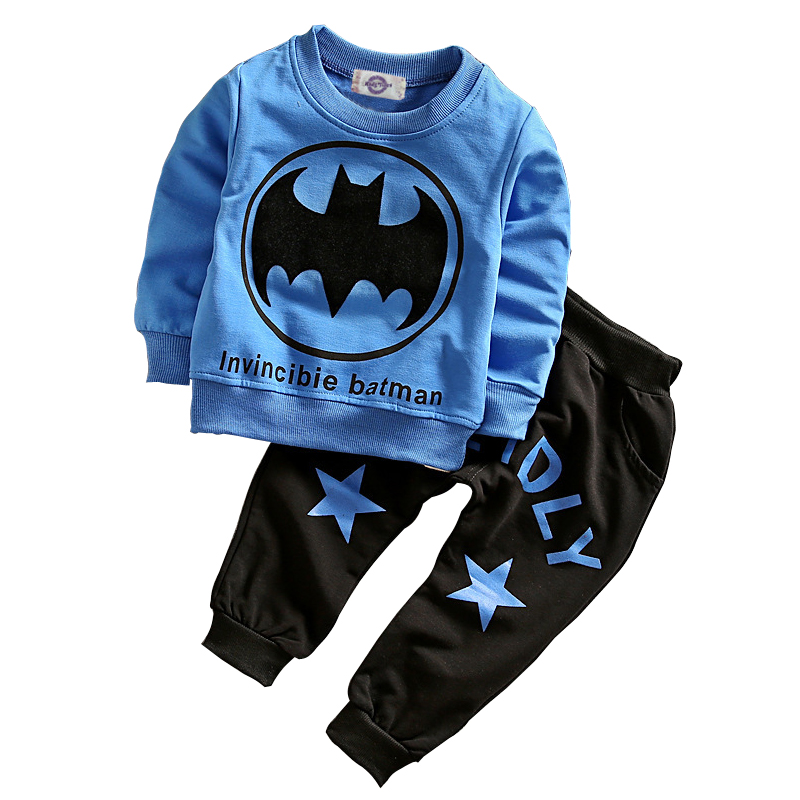 Baby Boy Clothing Sets Spring Cotton Boys Batman Clothes Sets Full Sleeve Children Sports Suits Kids Clothing For 1-3 Year