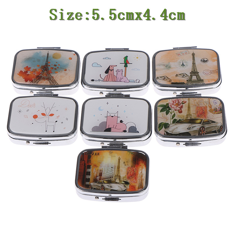 Portable Two Grid Compartment Pill Box Organizer for Travel for Safe Storage of Pills 1