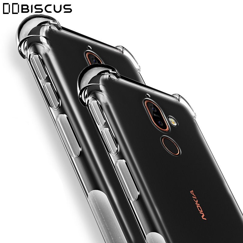 For Nokia 1 2 3 5 6 7 8 9 X5 X6 X7 2018 2.1 3.1 5.1 6.1 7.1 8.1 Plus Phone Case Clear Cover Shockproof Silicone Transparent Case
