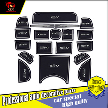 19Pcs/set Car-Styling Slot Pad Interior Door Groove Mat Latex Anti-Slip Cushion For Honda XRV 2015 Car door mat covers Dedicated