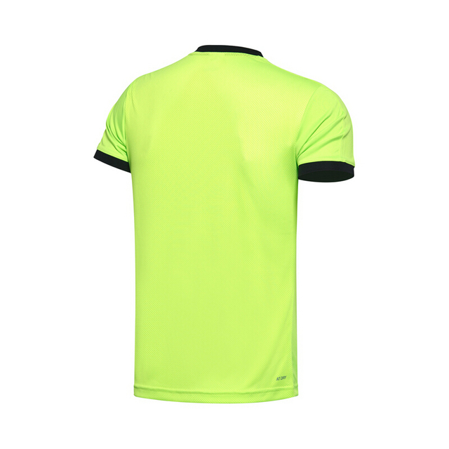Li-Ning Men's Soccer T-shirt Competition Top 100% Polyester ATDry LiNing Sports Jersey Tops AAYM063 MTS2647