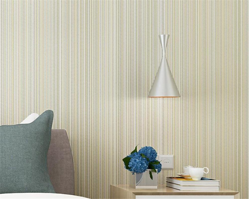 US $26.22 24% OFF|Beibehang Tapete moderne einfarbig vertikale streifen  beige wand papier schlafzimmer wohnzimmer hotel z dekorative 3d tapete-in  ...